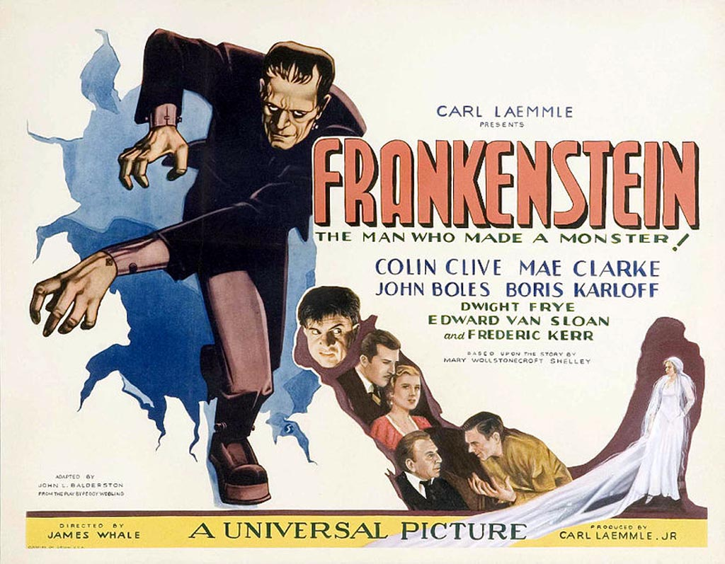 "Plakat do filmu ""Frankenstein"", rok 1931, Wikimedia Commons"