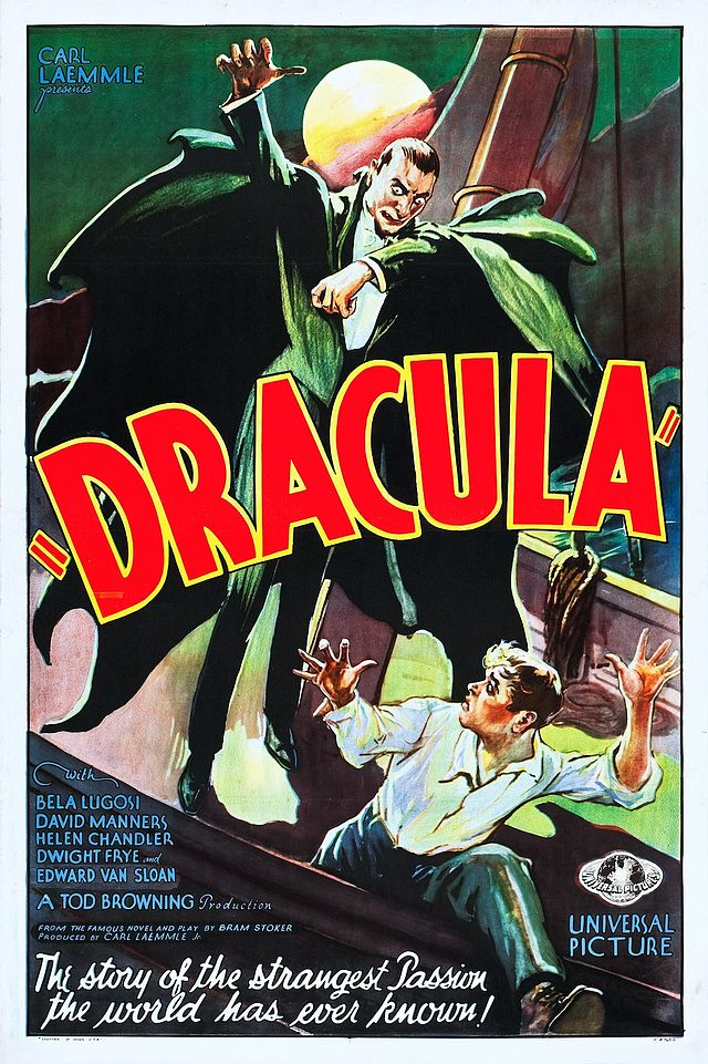 "Plakat do filmu ""Dracula"", rok 1931, Wikimedia Commons"